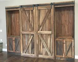Barn Wood Entertainment Center Tv Cover Barn Doors Entertainment Center Cover