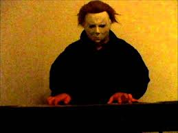 michael myers playing his own theme song youtube
