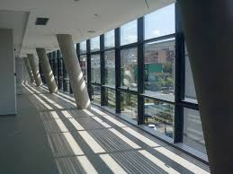 stick system curtain wall aluminum and glass seagull pespa