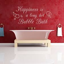 happiness is a long hot bubble bath wall quote decal