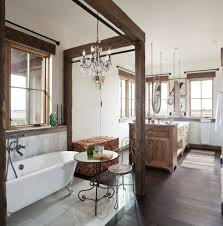 Mirrored Bathroom by How To Hang Mirror Bathroom Contemporary With High Ceilings