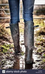 dirty riding boots hunter boots stock photos u0026 hunter boots stock images alamy