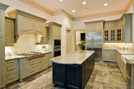 cabinet and countertop colors traditional green kitchen cabinets