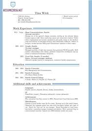 Good Teenage Resume Examples by Updated Resume Format 2016 Updated Structure Basic Resume Examples