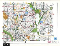 Dallas Area Map Bike Map F
