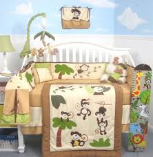 Infant Crib Bedding Soho Curious Monkey Baby Crib Nursery Bedding Set 13 Pcs Included