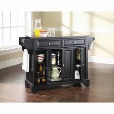 kitchen island black granite top crosley furniture lafayette solid black granite top kitchen island