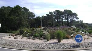 unusual japanese rock garden roundabout in france globetrotting