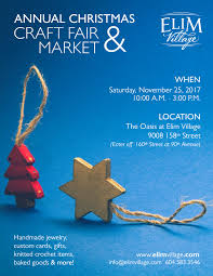 upcoming event annual christmas craft fair u0026 market u2013 elim village