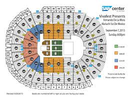 sap center seating chart with rows brokeasshome com vivafest sap center