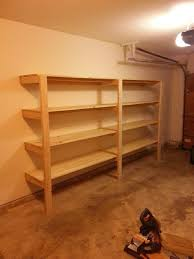 Basement Wood Shelves Plans by 7 Best Garage Images On Pinterest Basement Storage Garage