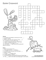 free printable easter crossword pdf easter printables