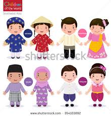 philippines traditional clothing for kids kids traditional costume vietnam philippines brunei stock vector