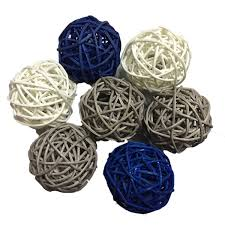 Decorative Floral Arrangements Home by 20pcs Mixed Black Gray Brown White Decorative Wicker Rattan Ball