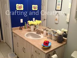 Yellow Bathroom Decor by Crafting And Creativity Blue Grey Yellow Bathroom Decor
