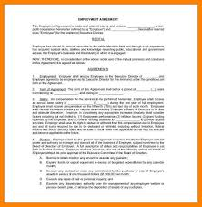 employment agreement contract best resumes