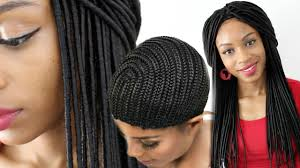hair braided on the top but cut close on the side faux locs crochet braids wig using a cornrow cap youtube