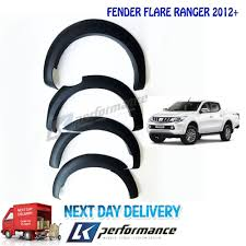 1 set matte black fender flare wheel arch for ford ranger t6 2016