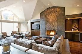 Living Room Fireplace Ideas - tile fireplace designs living room contemporary with brown circles
