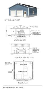 2 car automotive lift over sized garage plan 960 l 32 u0027 x 30 u0027 by