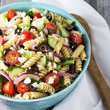 pasta slad greek pasta salad the blond cook