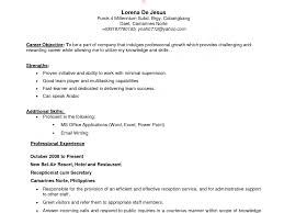 exles of resumes for college sles of objectives in objective resume templates