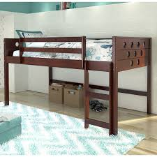 donco kids twin loft tent bed with slide light espresso hayneedle