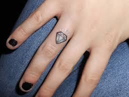 56 stylish diamond tattoos on finger