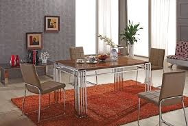 steel dining table set glass dining table dining room furniture