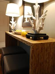 Skinny Wall Table by Decorating With Floor And Table Lamps Hgtv