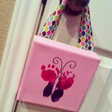 custom nursery by diy easy baby footprint butterfly