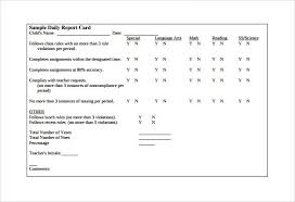 report card template pdf report card template 29 free word excel pdf documents