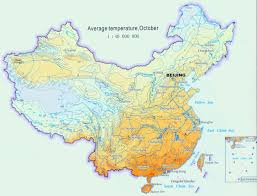 Changsha China Map by China Climate Map Autumn Temperature October Average Temperature