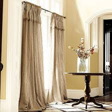 Valances For French Doors - dining room addition french pleated check draperies check