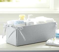Changing Table Storage Baskets Changing Table Storage Gray Gingham Changing Table Storage Change