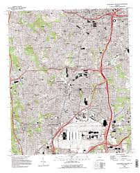 Atlanta Ga Map Southwest Atlanta Topographic Map Ga Usgs Topo Quad 33084f4