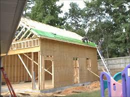 construction time lapse of a 22x30 suburban stick built workshop