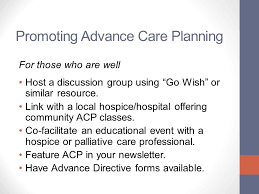 advance care planning for faith leaders the basics ppt download