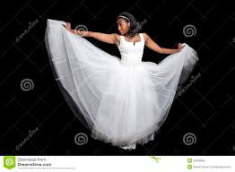 black woman in wedding dress stock photo image 24000886