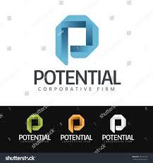 logo stylized p letter this logo stock vector 437751076 shutterstock