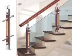 Handrail Manufacturer Wood And Glass Handrail Railing With Combination Of Gl Wood And