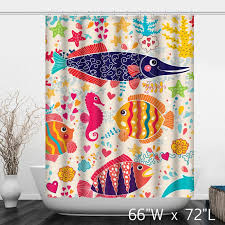 Multi Color Shower Curtains Tropical Fish Shower Curtain Blue Sea Tropical Fish Shower Curtain