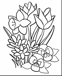 wonderful spring coloring book pages with spring coloring pages