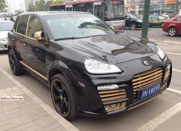 Black Porsche Cayenne - spotted in china porsche cayenne techart magnum in black