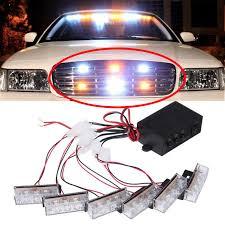 use of amber lights on vehicles 6 3 amber white led emergency grille vehicle strobe lights 3