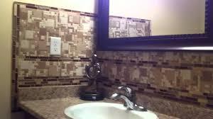 how to install glass tile backsplash in bathroom room design ideas