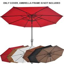 Patio Umbrella Canopy Replacement 8 Ribs by 8 2ft 13ft Patio Umbrella Cover Canopy 8 Rib 6 Rib Replacement