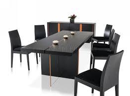 modern black table modern black glossy floating dining table by vig