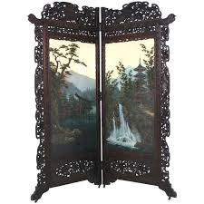 Japanese Screen Room Divider Antique Japanese 19th Century Folding Screen Room Divider At 1stdibs