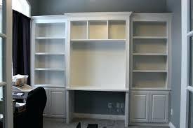 Diy Built In Desk Plans Bookcase Built In Bookshelf With Desk Plans Made Built In